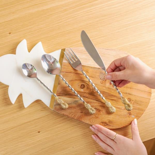 Edelstahl Besteck Ananas Set - NANAS -