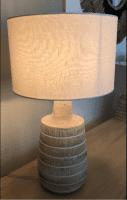 große Tischlampe Weiß - DARIT -