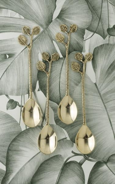 Esslöffel Gold Set - LEAVES -
