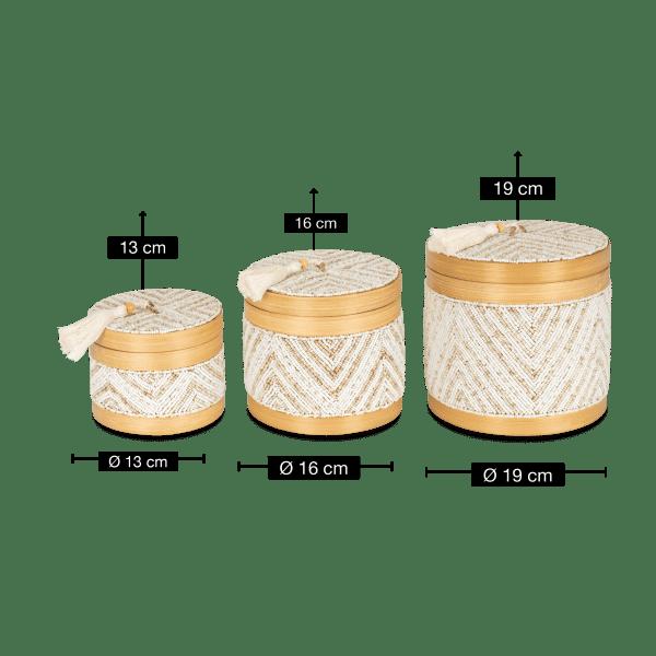 Aufbewahrungsbox Bambus - CELUK