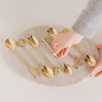 Esslöffel Muschel Gold Set - KULIT -