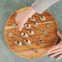 Teelöffel Muschel Set - KULIT -