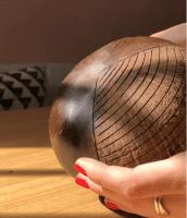 Kokosnuss Schale - BOWL - mit Verzierungen