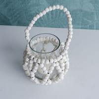 kleines Teelicht mit Holzperlen - MURIA S