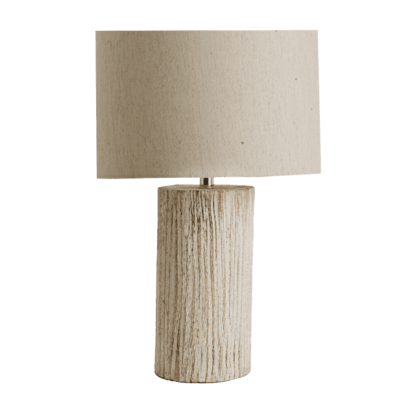 Tischlampe Mangoholz Streifenmuster - SIHAN -