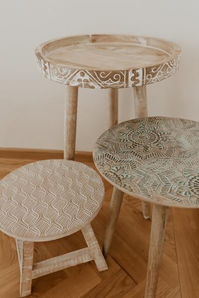 Boho Stil Tisch Beistelltisch - KEBESARAN