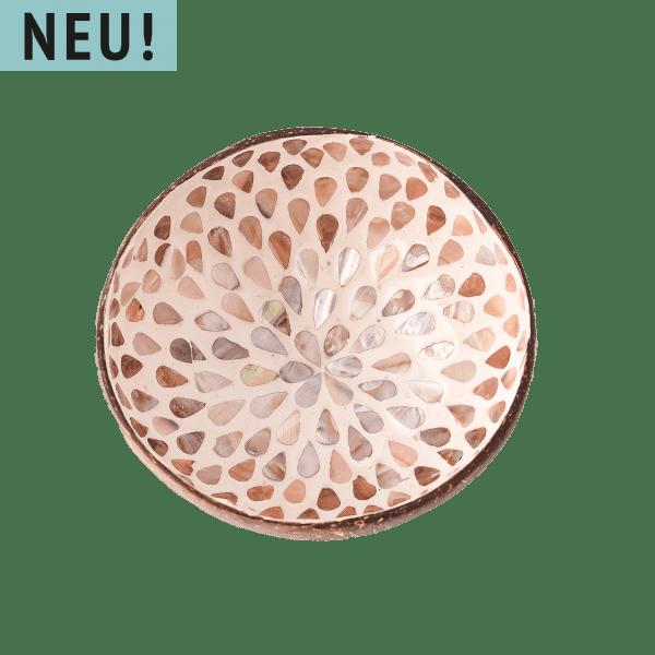 Kokosnuss Schale - BOWL - mit Perlmutt Inlay