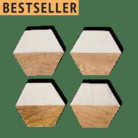 Untersetzer Marmor Holz Set - TEGAL -