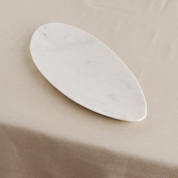 Weißer Marmor Kerzenteller - NITA -