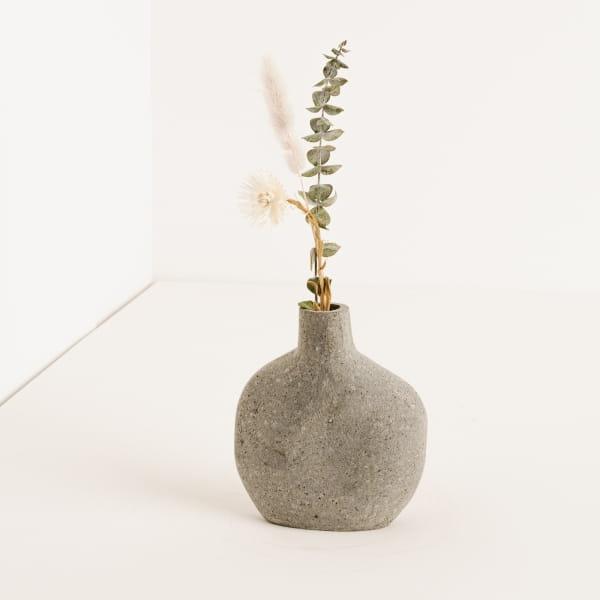 Organische Vase aus Lavastein - BELOI -