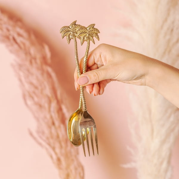 Besteck Set Palme Gold - UNDER PALMS -