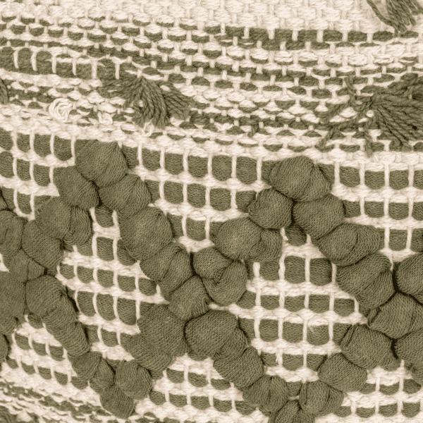 Boho Kissen Fransen Grün 50x50 - SANUR -