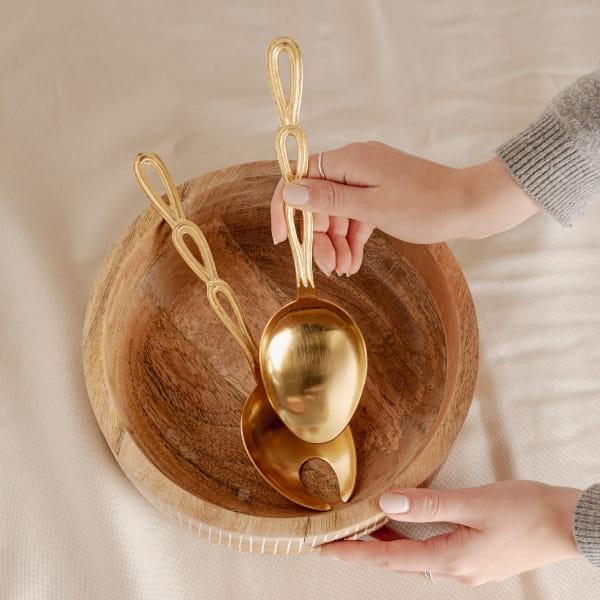 goldenes Boho Salatbesteck - TINGGAL -