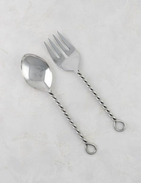 Edelstahl Design Salatbesteck - BIRU -