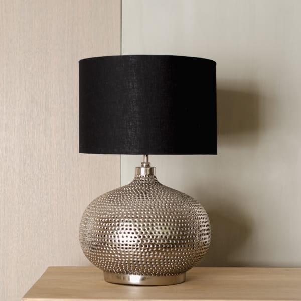 Tischlampe Metall mit Muster - RAJA -