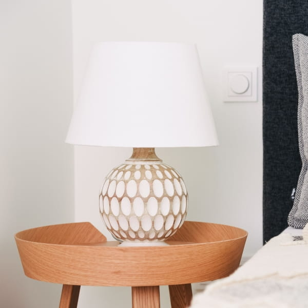 Ethno Tischlampe Weiß - SOSOK -