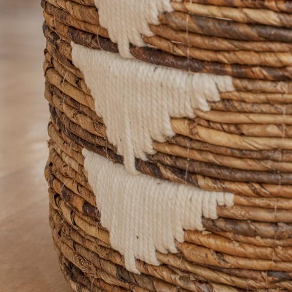 Boho Korb mit Baumwolldetails - GILI TRAWANGAN -