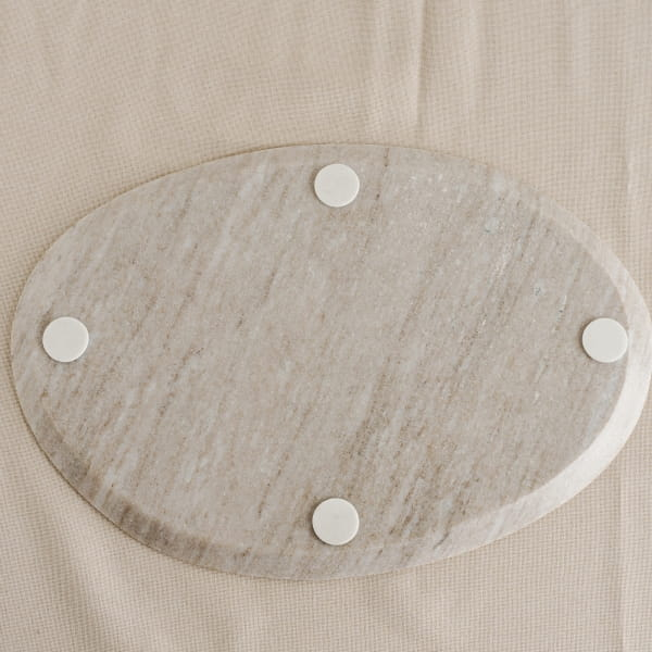 Marmor Kerzenteller Beige - KODIA -