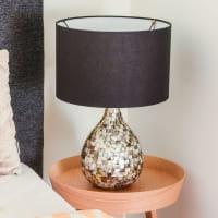 Große Tischlampe Perlmutt - NOBO -