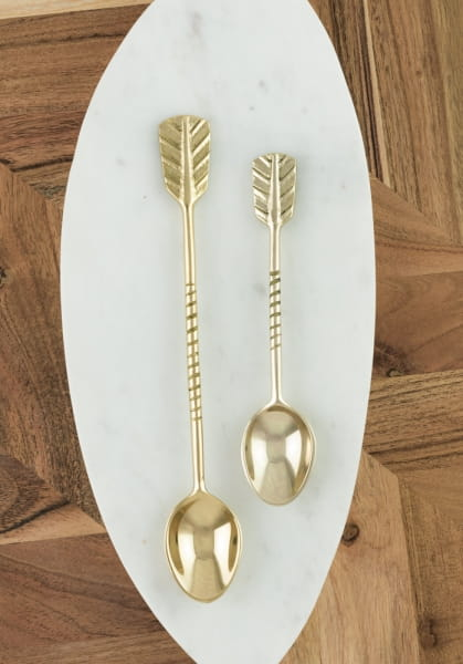 Teelöffel Gold Pfeil Set - ARROWS -