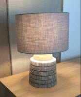 Tischlampe Grau - MANDOR -