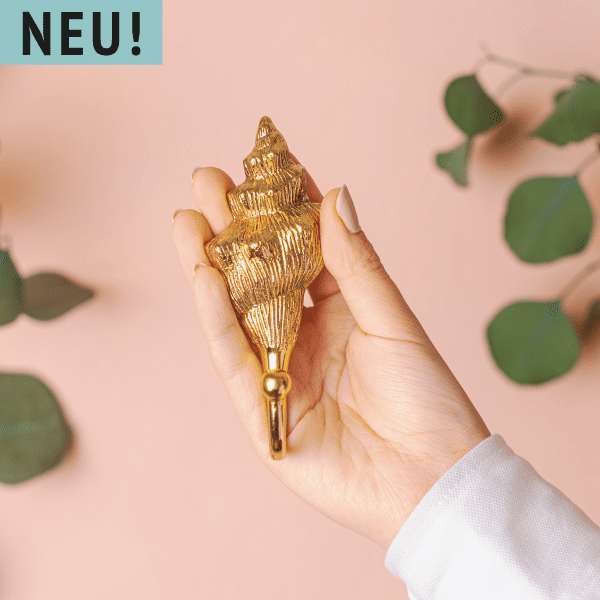 Wandhaken Gold Muschel - KULIT -
