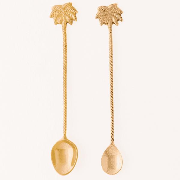 New Gold Langstiellöffel Set - PALEM -