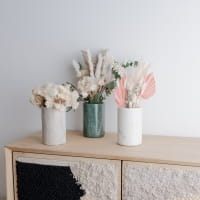 Marmor Vase Weiß - GEDE -