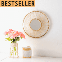 Rattan Wandspiegel - GOLDEN HOUR