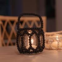 Teelicht mit Holzperlen - MURIA