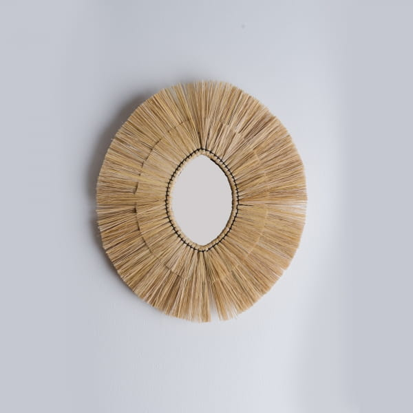 Stroh Boho Spiegel Oval - BALE -