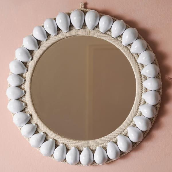 Wandspiegel mit echten Muscheln - PLOSO -