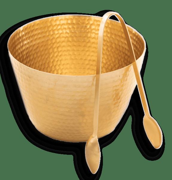 goldene Schüssel mit Zange - PAPUA -