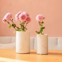 Marmor Vase Weiß - NOBO -
