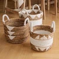 Boho Korb mit Baumwolldetails - GILI NANGG -